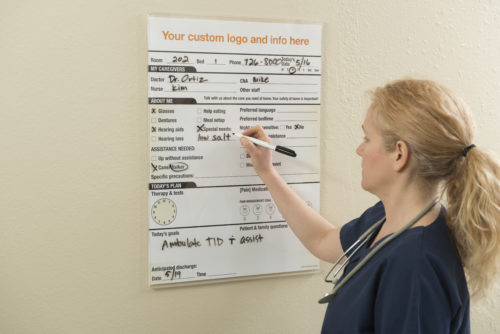 Dry Erase Patient Care Board
